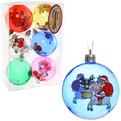 Новогодние шары ″Кристалл.Дед Мороз″ 7см (набор 6шт.) купить оптом и в розницу