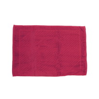 Махровое полотенце для ног 50*70см бордовое купить оптом и в розницу