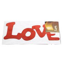 Наклейка интерьерная зеркальная 30*10см Любовь 5219 2 цвета купить оптом и в розницу