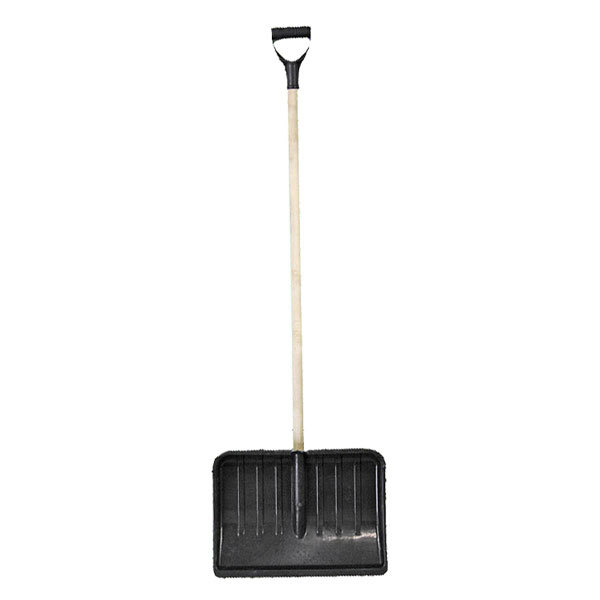 Лопата снеговая пластиковая с дер. черенком 48х36 см купить оптом и в розницу