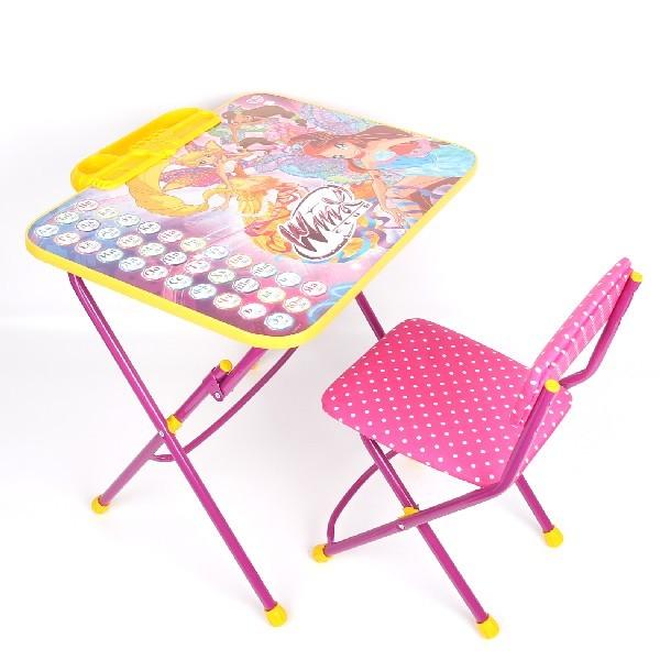 Набор детской мебели ″Винкс.Азбука″ складной, с пеналом, мягкий стул В3А купить оптом и в розницу