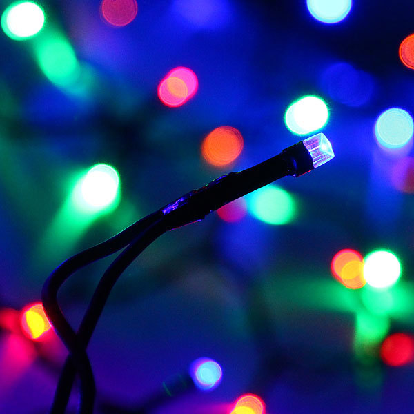 Занавес светодиодный 2*1,5м 320 ламп LED, прозрач.пров, Мультицвет купить оптом и в розницу