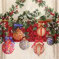 Скатерть 120*150см ″Рождественский остролист с омелой″ купить оптом и в розницу