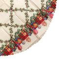 Скатерть круглая 150см ″Рождественский остролист с омелой″ купить оптом и в розницу
