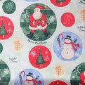 Скатерть круглая 150см ″Рождество с друзьями″ купить оптом и в розницу