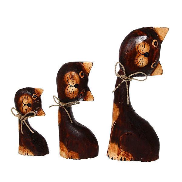 Сувенир Кошки 20,15,10 см набор купить оптом и в розницу