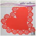 Наклейка интерьерная зеркальная 60*60см Сердце с розами 4843 2 цвета купить оптом и в розницу