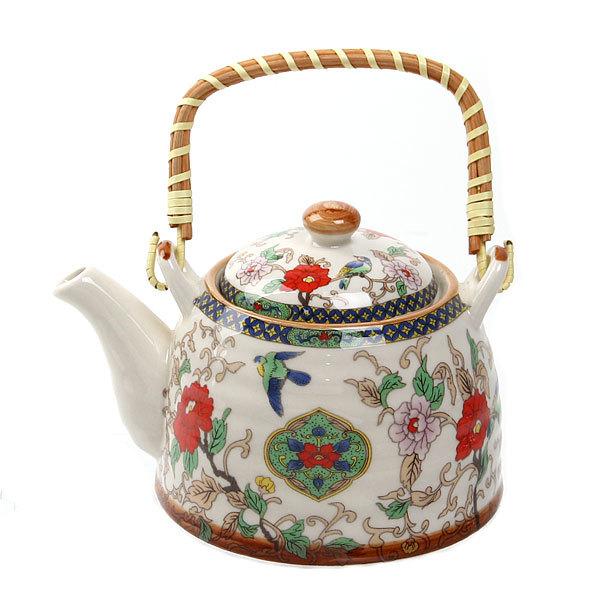 Чайник заварочный керамический 450 мл с ситом ″Китайские узоры″ купить оптом и в розницу