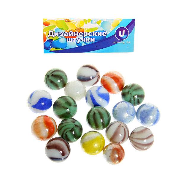 Украшение декоративное стеклянные шарики для дизайна ″Фантазия″ 100гр d16 купить оптом и в розницу