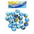 Украшение декоративное стеклянные шарики для дизайна ″Синяя фантазия″ 100гр d16 купить оптом и в розницу