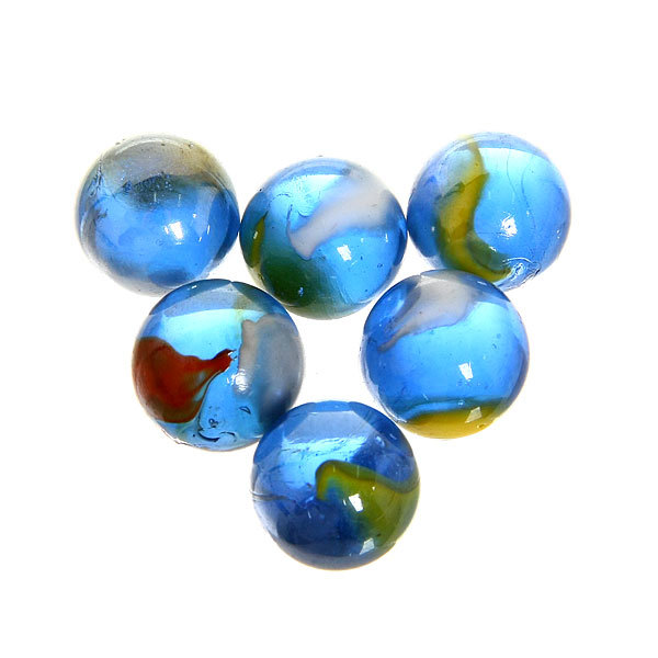 Cтеклянные камушки декоративные ″Синяя фантазия″ 100гр d16 купить оптом и в розницу