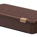 Ящик Люкс плетеный с крышкой M(корич) *6 790х380х175 мм купить оптом и в розницу