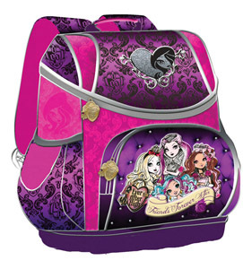 Ранец школьный Limpopo Smart bag Mattel Ever After High ортоп.спинка фиолетовый купить оптом и в розницу