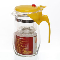 Чайник заварочный стеклянный 750 мл с кнопкой купить оптом и в розницу