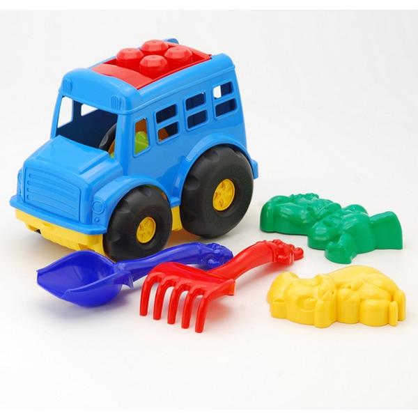 Песочный набор Автобус Бусик №2 0091 /Colorplast/ купить оптом и в розницу