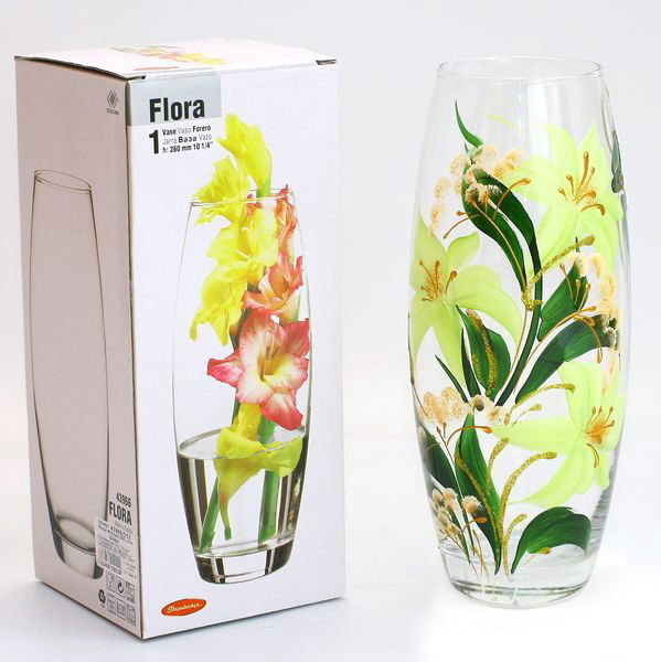 Ваза стеклянная 26см ″Flora″ Шарм купить оптом и в розницу