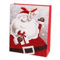 Пакет подарочный 32х26х10 см ″Дед Мороз Блеск″ купить оптом и в розницу