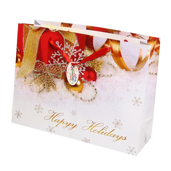 Пакет подарочный 27х36х12 см ″Новогодний презент″ купить оптом и в розницу