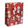 Пакет подарочный 32х26х10 см ″Снеговички″ голограмма купить оптом и в розницу