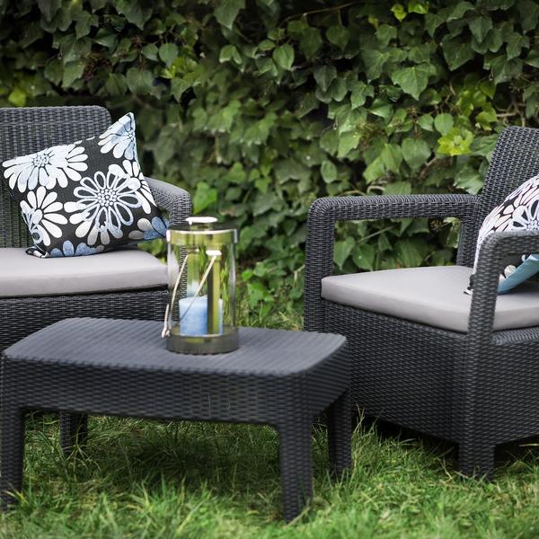 Набор мебели (2 стула, стол) TARIFA BALCONY антрацит  с подушками Curver купить оптом и в розницу