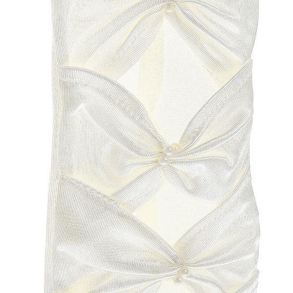 Перчатки для невесты атласные со стразами 40 см без пальцев купить оптом и в розницу