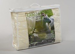 Одеяло 2.0 шерсть козья тик в чемодане арт.151,151М Миромакс  купить оптом и в розницу