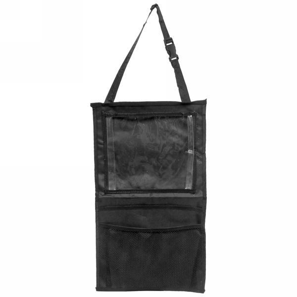 Органайзер автомобильный, с карманом для планшета 43*58см, цвет черный купить оптом и в розницу