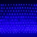 Сетка светодиодная 1,55 х 1,45 м, 192 ламп LED, Синий, 8 режимов, прозр.пров. купить оптом и в розницу