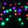 Бахрома светодиодная 3 х 0,3/0,4/0,5м, 96 ламп LED, Шар, RGB (красный, зеленый, синий), без реж,прозр.пров,с возм.соед купить оптом и в розницу