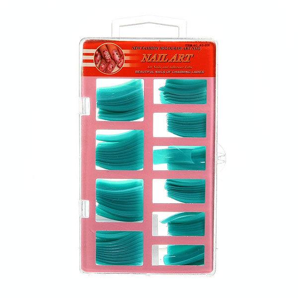 Ногти накладные в пластиковой коробке ″Эллегия″, цвет мятный, 100шт (без клея) купить оптом и в розницу