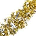 Мишура новогодняя 2 метра 9см ″Восторг″ золотой, серебро купить оптом и в розницу