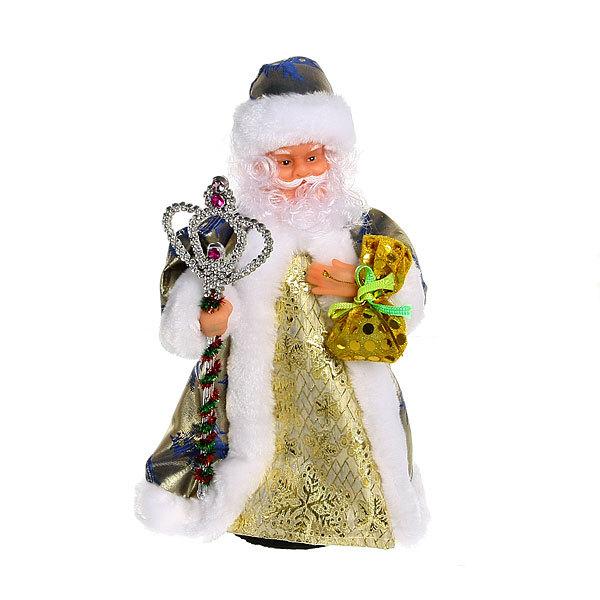 Дед Мороз музыкальный 30см с посохом и мешком купить оптом и в розницу