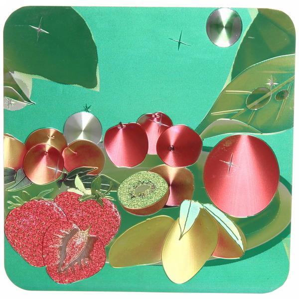 Подставка декоративная 19,5*19,5 см ″Фрукты-цветы″ голограмма купить оптом и в розницу
