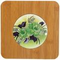 Подставка декоративная ″Фрукты-цветы″ 16,5*16,5 см голограмма бамбук купить оптом и в розницу