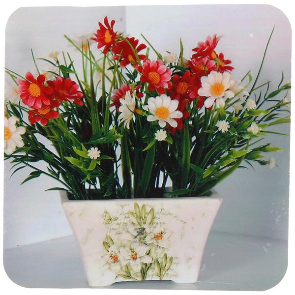Подставка декоративная 14,5*14,5 см ″Цветы″ купить оптом и в розницу