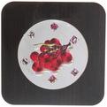 Подставка декоративная 15*15 см ″Фрукты-цветы″ голограмма темная купить оптом и в розницу