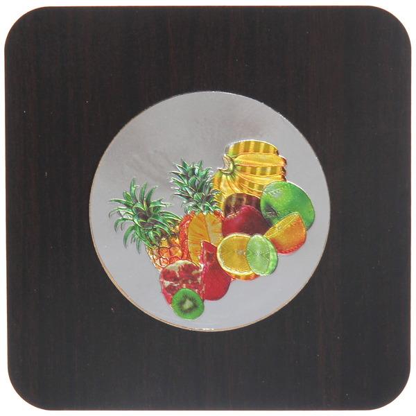 Подставка декоративная 17*17 см ″Фрукты-цветы″ голограмма темная купить оптом и в розницу