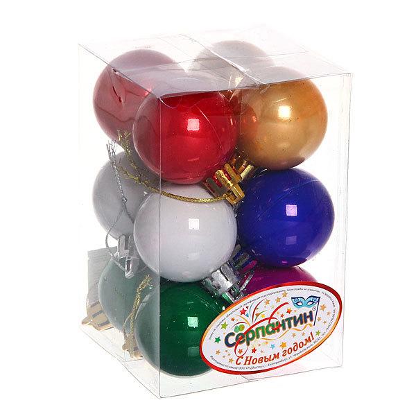 Новогодние шары 4 см ″Жемчуг″ набор 12 шт, микс купить оптом и в розницу
