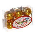Новогодние шары 3 см ″Золото″ набор 6 шт купить оптом и в розницу