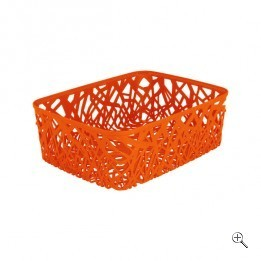 Корзинка прямоуг. NEO COLORS оранж./*6 шт *(37,7х29х12,7)см Curver купить оптом и в розницу