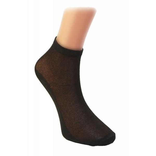 Носки женские Золотая игла, сетка, цвет черный р. 25 купить оптом и в розницу