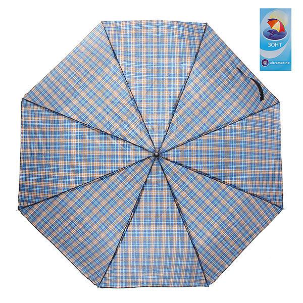 Зонт мужской механический ″Классика″ клетка, 8 спиц, d-98см, длина в слож. виде 23см купить оптом и в розницу