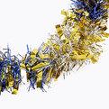 Мишура новогодняя 2 метра 9см ″Зебра″синий, золотой купить оптом и в розницу