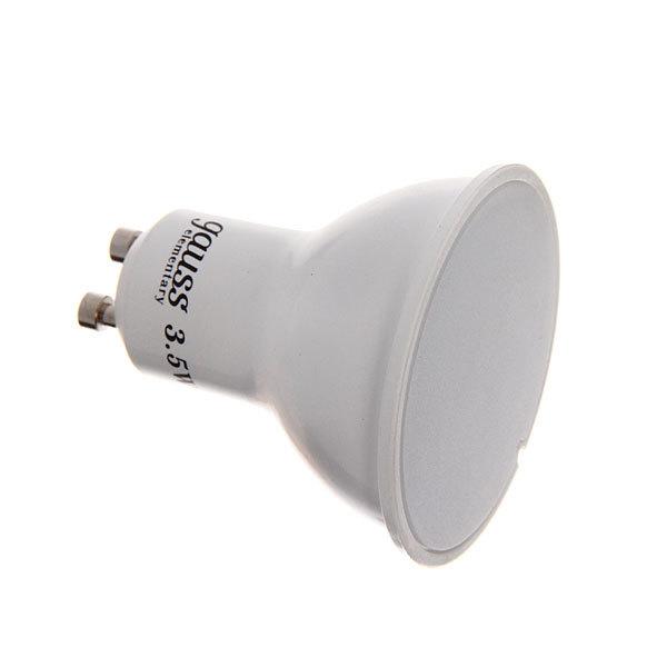 Лампа светодиод. GU10 220В 3.5Вт 4100К (эквив.50) Elementary Gauss купить оптом и в розницу