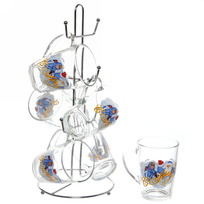 Набор кружек 6шт 300мл ″Дед Мороз″ +стойка в подарочной упаковке D1334/06 купить оптом и в розницу