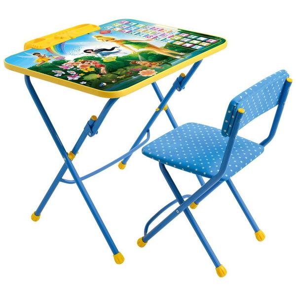 Набор детской мебели ″Дисней.Феи.Азбука″ складной, с пеналом, мягкий стул Д3Ф1 купить оптом и в розницу
