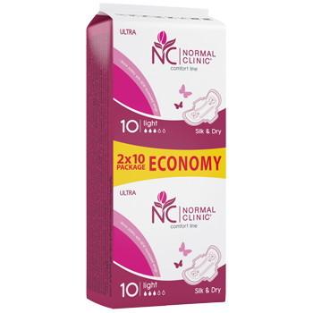 Ультратонкие прокладки для критических дней NORMAL cliniс ″COMFORT″ - silk & dry - 3 капли, 240 мм, 20шт купить оптом и в розницу
