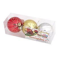 Новогодние шары ″Новогодний узор″ 6см (набор 3шт.) купить оптом и в розницу