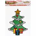 Наклейка на стекло 20*13см,″Ёлочка Новогодняя с подарками″ A-16118 купить оптом и в розницу