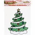 Наклейка на стекло 20*13см,″Ёлочка Новогодняя″ A-16116 купить оптом и в розницу
